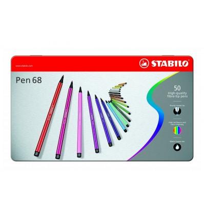 Set Pen 68 50/pz in Scatola di Metallo Stabilo