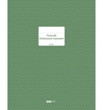 Protocollo Dichiarazione Esportatori E 2798 EdiPro