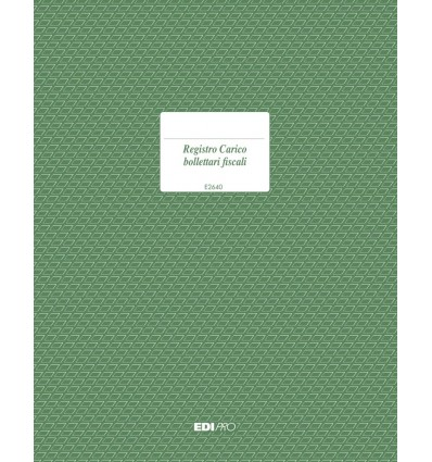 Registro Carico Bollettari Fiscali E 2640 EdiPro