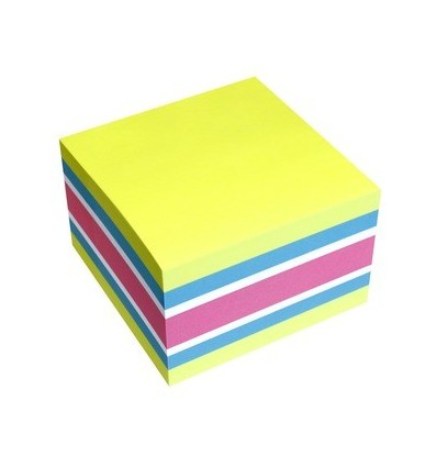 Blocco Fogli Adesivi assortiti Sticky Notes Cube 5654-51 Info Notes