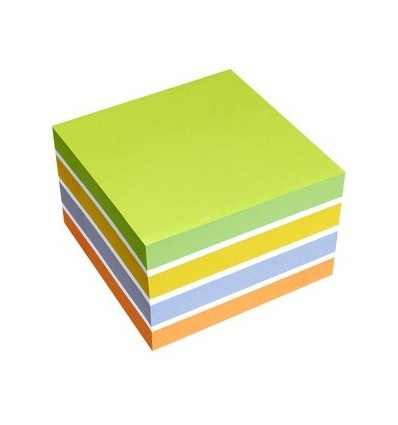 Blocco Fogli Adesivi assortiti Sticky Notes Cube 5654-52 Info Notes