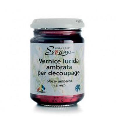 Vernice Lucida Ambrata per Decoupage 150 ml Ferrario