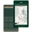 Matite grafite Castell 9000 Art 8B/2H Set Scatola in metallo Faber Castell