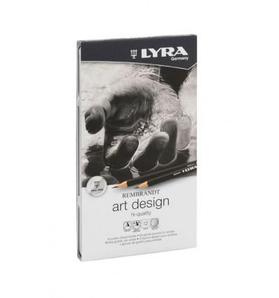 Lyra Rembrandt Art Design Hi Quality Scatola in Metallo 12pz