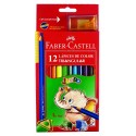 Pastelli Colorati Jumbo + Temperino Faber-Castell