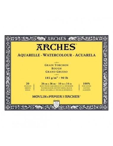 Blocco Acquerello Grana a Torchon Arches