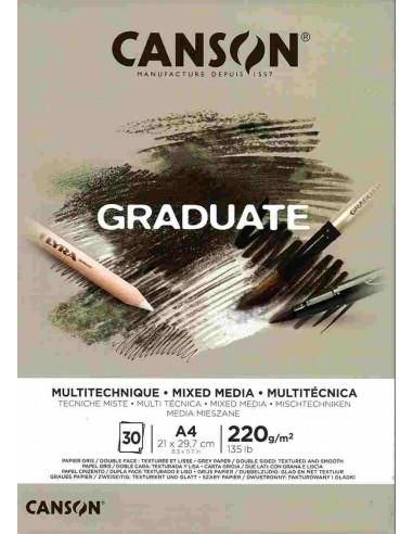 Blocco A4 Graduate Mix Media Grey...
