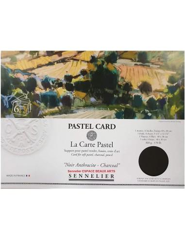 """Pastel Card """"La Carte Pastel - Noir..."""