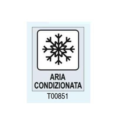 "Targhetta adesiva ""Aria Condizionata"" Pictofix T00851 Letterfix"