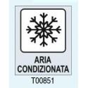 """Targhetta adesiva """"Aria Condizionata"""" T00851 Letterfix"""