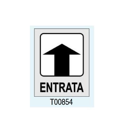 """Targhetta Adesiva """"Entrata"""" T00854 Letterfix"""