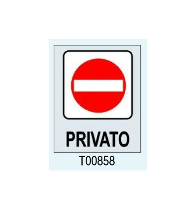"Targhetta Adesiva ""Privato"" T00858 Letterfix"
