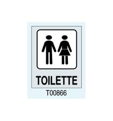 """Targhetta Adesiva """"Toilette"""" T00866 Letterfix"""