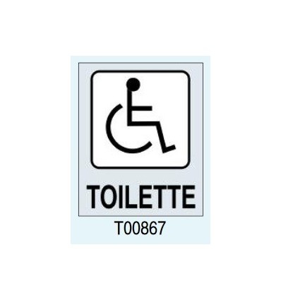 "Targhetta Adesiva ""Toilette per Disabili"" T00867 Letterfix"