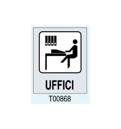 """Targhetta Adesiva """"Uffici"""" T00868 Letterfix"""