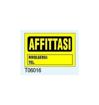 "Targa Segnaletica ""Affittasi"" T06016 Letterfix"