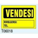 "Targa Segnaletica ""Vendesi"" T06018 Letterfix"
