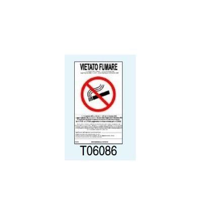 """Targa Segnaletica """"Vietato Fumare"""" T06086 Letterfix"""