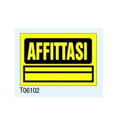 "Targa Segnaletica Maxi ""Affittasi"" T06102 Letterfix"