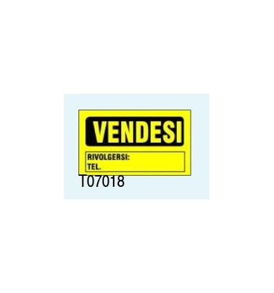 "Targa Adesiva ""Vendesi"" T07018 Letterfix"