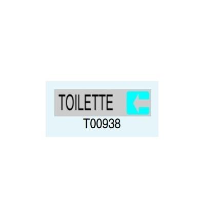 """Targa Adesiva """"Toilette"""" T00938 Letterfix"""