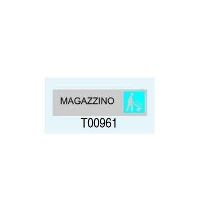 "Targa Adesivo ""Magazzino"" T00961 Letterfix"