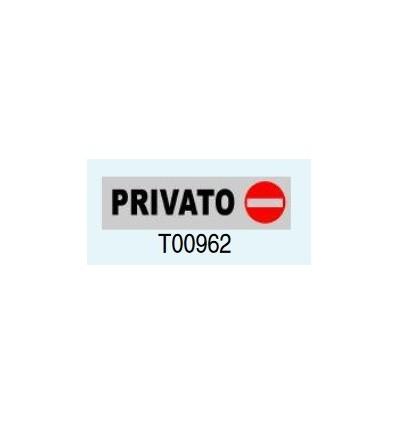 """Targa Adesiva """"Privato"""" T00962 Letterfix"""