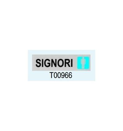 """Targa Adesiva """"Signori"""" T00966 Letterfix"""