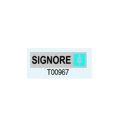 "Targa Adesiva ""Signore"" T00967 Letterfix"