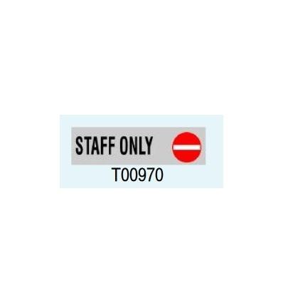 """Targa Adesiva """"Staff Only"""" T00970 Letterfix"""
