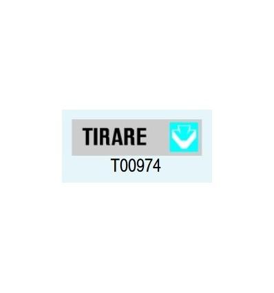"""Targa Adesiva """"Tirare"""" T00974 Letterfix"""