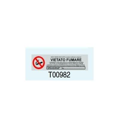 """Targa Adesiva """"Vietato Fumare"""" T00982 Letterfix"""