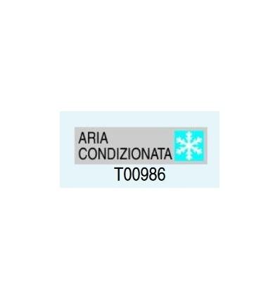 "Targa Adesiva ""Aria Condizionata"" T00986 Letterfix"