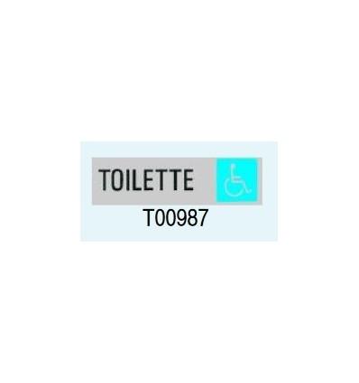 "Targa Adesiva ""Toilette per Disabili"" T00987 Letterfix"