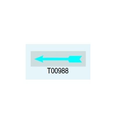 "Targa Adesiva ""Freccia"" T00988 Letterfix"