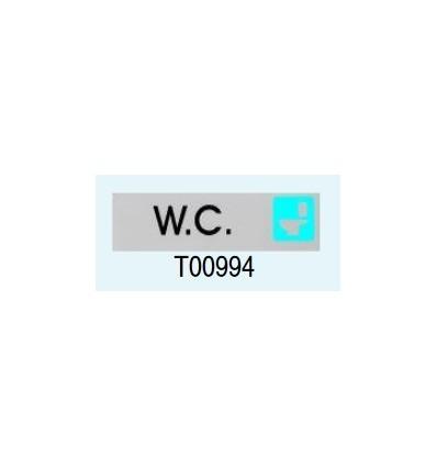 "Targa Adesiva ""WC"" T00994 Letterfix"