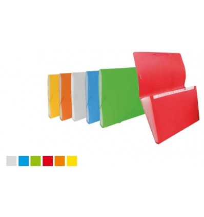 Portadocumenti Formato Raccomandata a 12 Tasche in PPL Rigato Tecnoteam