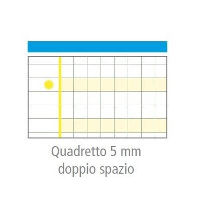 """Quaderno MaxiDidattico """"Quadretto 5 mm Doppio Spazio"""" Tecnoteam"""